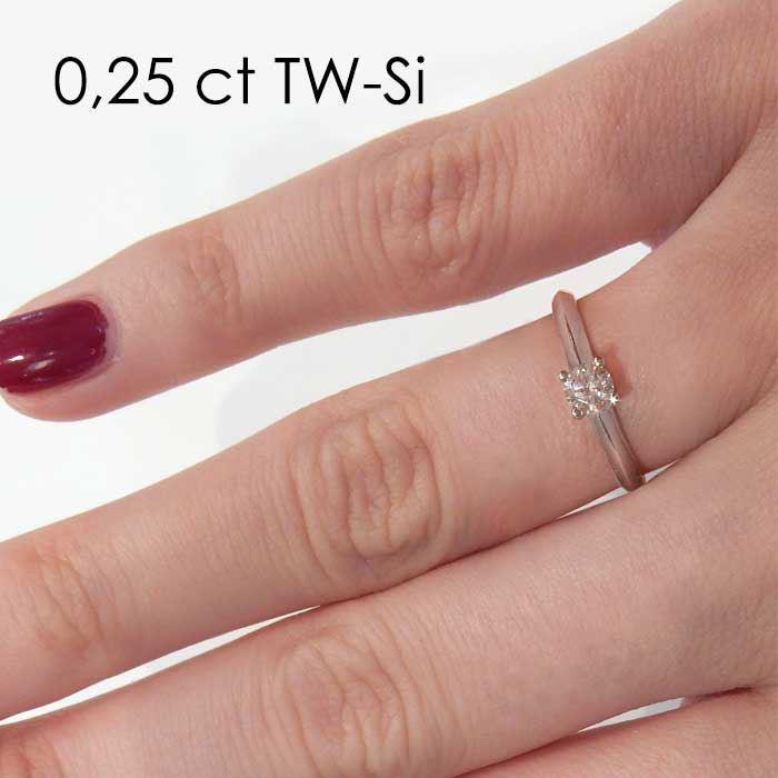 Enstens platina diamantring Elissa med 0,20 ct TW-Si -18004020pt