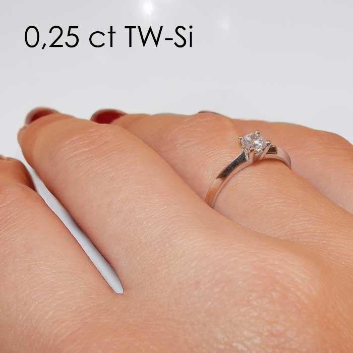 Enstens platina diamantring Elissa med 0,25 ct TW-Si -18004025pt