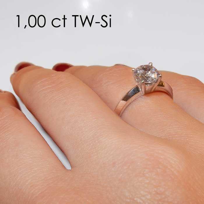 Enstens diamantring Elissa med 0,70 ct i 14kt gull. TW-Si. -18004070