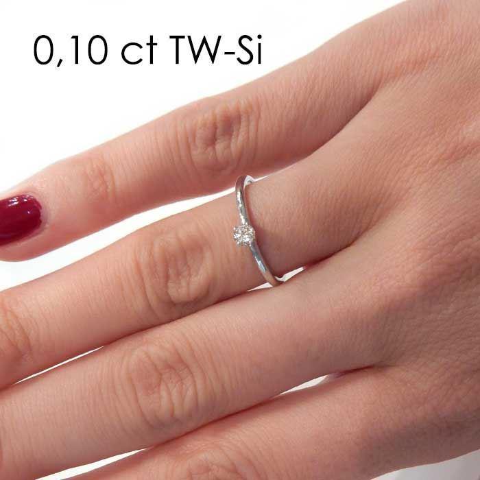 Enstens platina diamantring Jasmina med 0,16 ct TW-Si -18018016pt