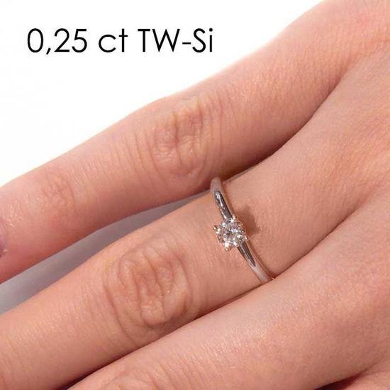 Enstens platina diamantring Jasmina med 0,20 ct TW-Si -18018020pt