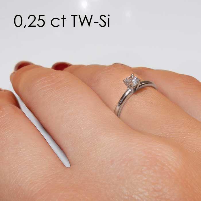 Enstens platina diamantring Jasmina med 0,30 ct TW-Si -18018030pt