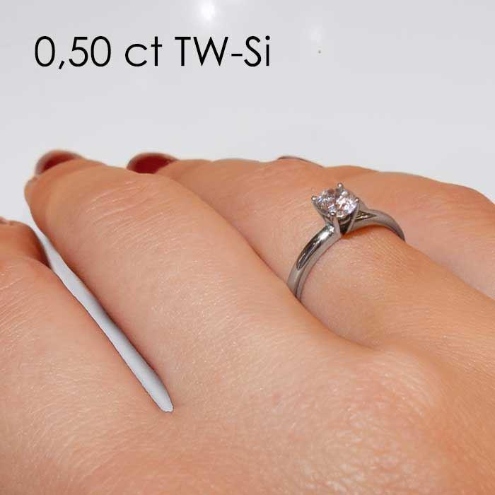 Enstens platina diamantring Jasmina med 0,40 ct TW-Si -18018040pt
