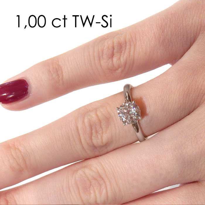 Enstens diamantring Jasmina med 0,70 ct i 14kt gull. TW-Si. -18018070