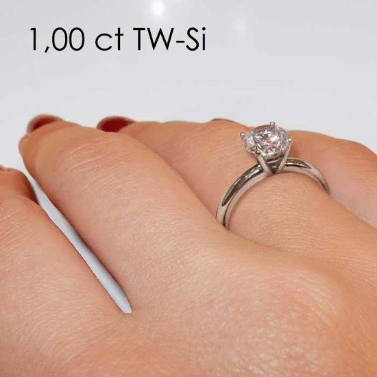 Enstens platina diamantring Jasmina med 0,70 ct TW-Si -18018070pt