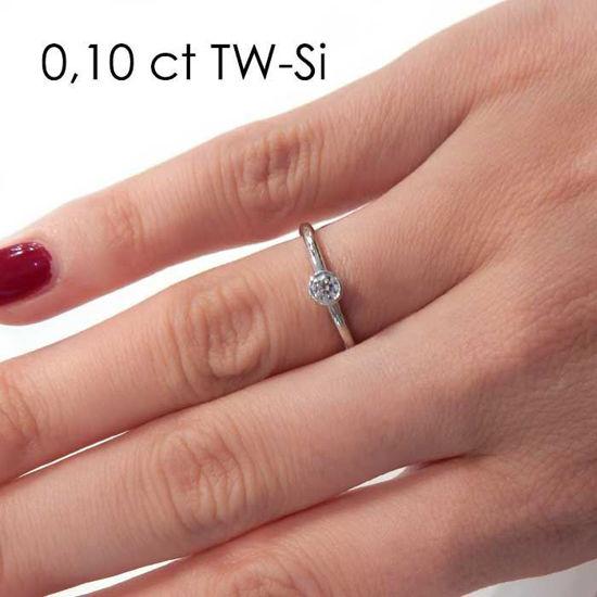 Enstens platina diamantring med 0,16 ct TW-Si -18019016pt