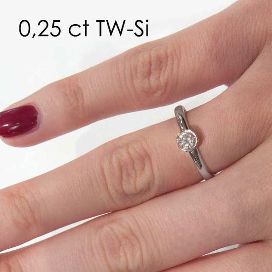 Enstens platina diamantring med 0,25 ct TW-Si -18019025pt