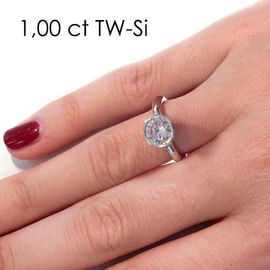 Enstens diamantring med 1,00 ct TW-Si i platina -18019100pt