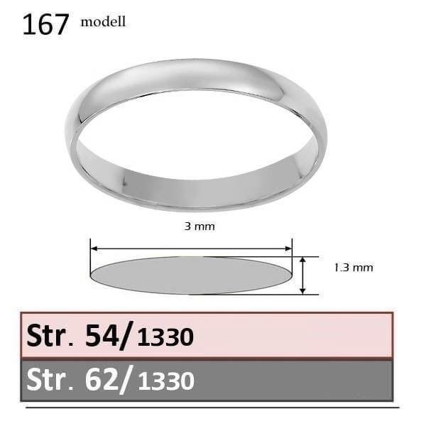Giftering & diamantring 0.16 ct hvitt gull, 3 mm - 1330-3307016