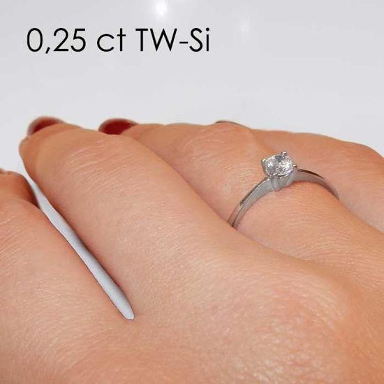 Enstens platina diamantring Lilya med 0,30 ct TW-Si -18008030pt