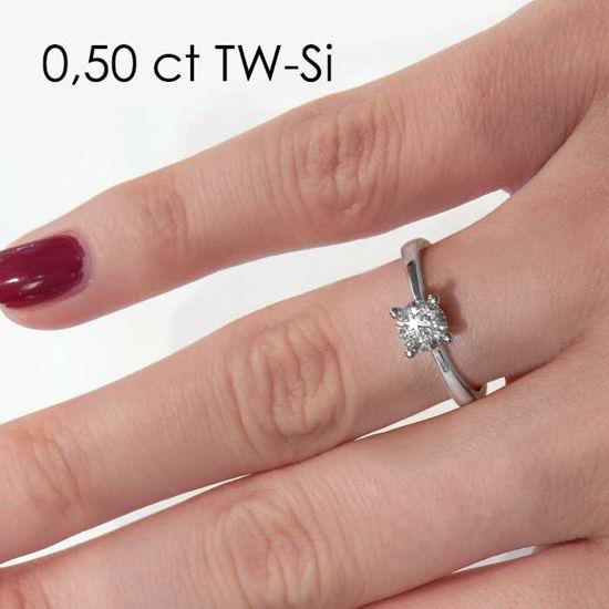 Enstens diamantring Lilya med 0,40 ct i 14kt gull. TW-Si. -1800804