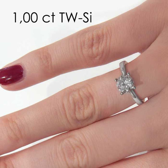 Enstens diamantring Lilya med 0,70 ct i 14kt gull. TW-Si. -18008070