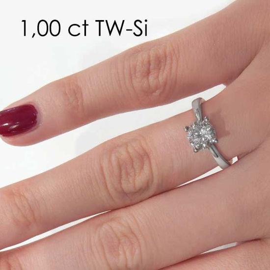 Enstens platina diamantring Lilya med 1,00 ct TW-Si -18008100pt