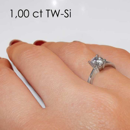 Enstens platina diamantring Lilya med 0,70 ct TW-Si -18008070pt