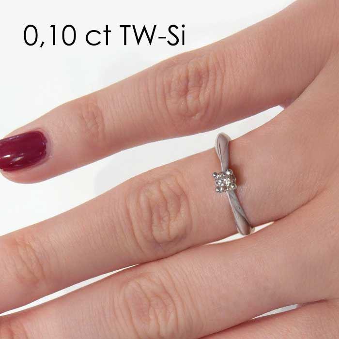 Enstens platina diamantring Naima med 0,16 ct TW-Si -18009016pt