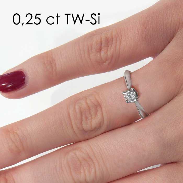 Enstens platina diamantring Naima med 0,25 ct TW-Si -18009025pt