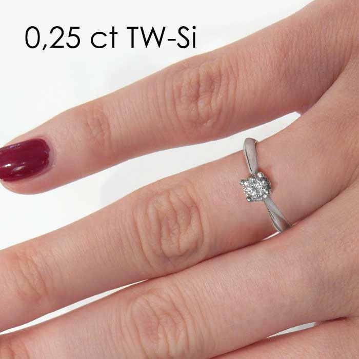 Enstens platina diamantring Naima med 0,30 ct TW-Si -18009030pt