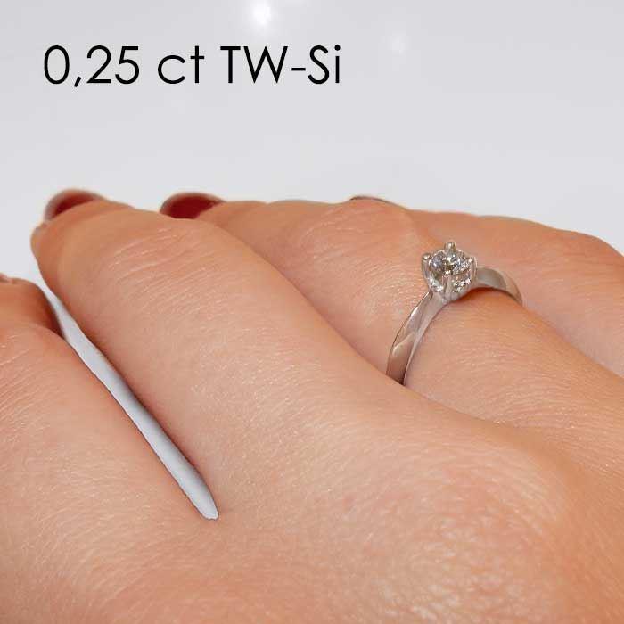 Enstens platina diamantring Naima med 0,20 ct TW-Si -18009020pt