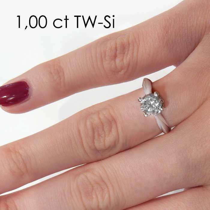 Enstens platina diamantring Naima med 0,70 ct TW-Si -18009070pt