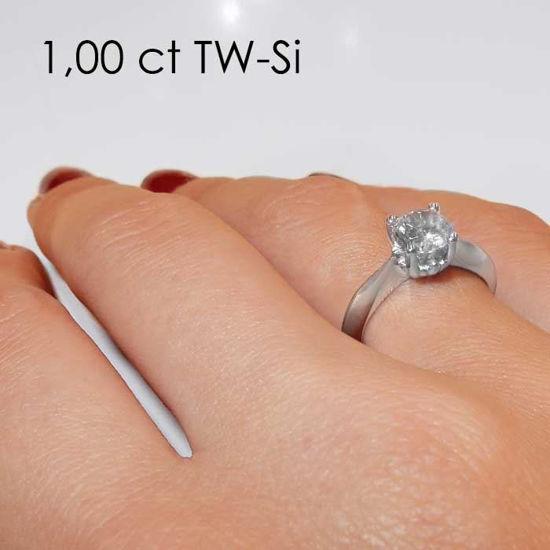 Enstens platina diamantring Naima med 1,00 ct TW-Si -18009100pt