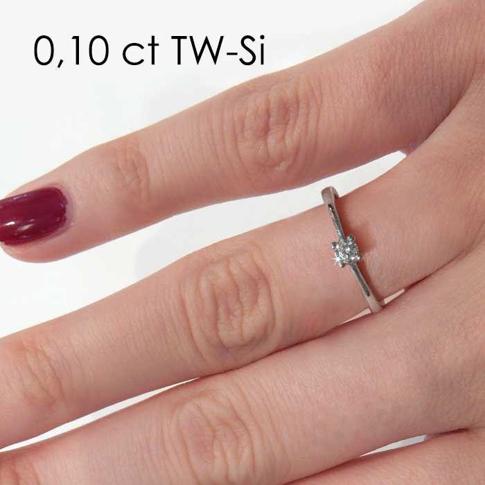Enstens platina diamantring Soria med 0,16 ct TW-Si -18010016pt