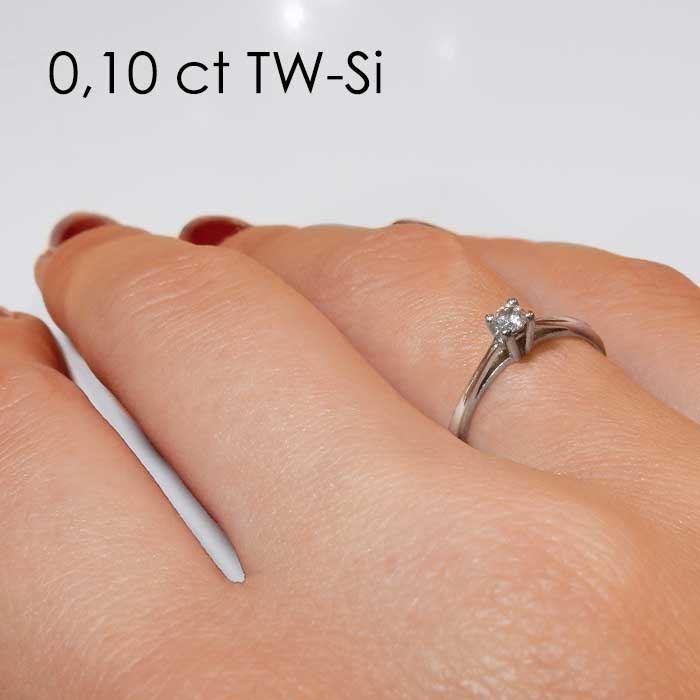Enstens diamantring Soria med 0,16 ct i 14kt gull. TW-Si. -18010016