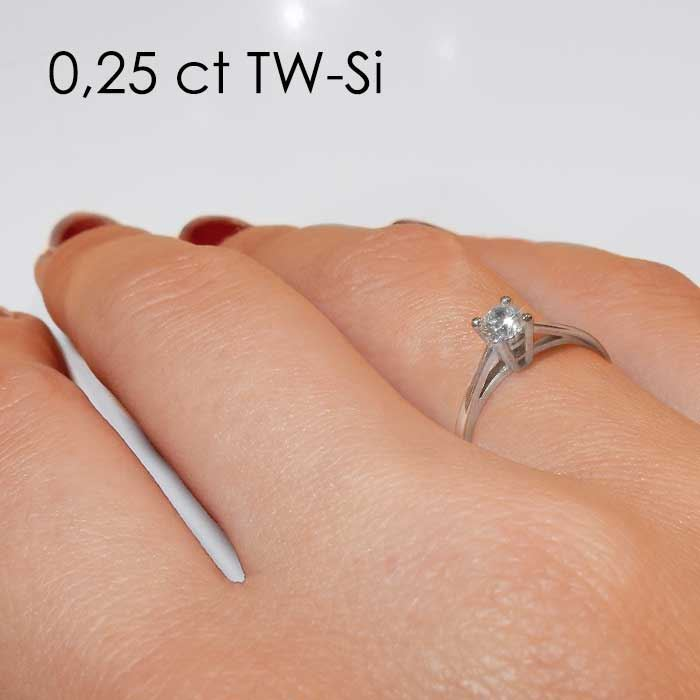 Enstens platina diamantring Soria med 0,30 ct TW-Si -18010030pt