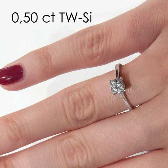 Enstens platina diamantring Soria med 0,50 ct TW-Si -18010050pt