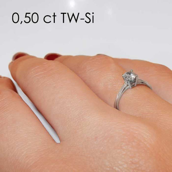 Enstens platina diamantring Soria med 0,40 ct TW-Si -18010040pt