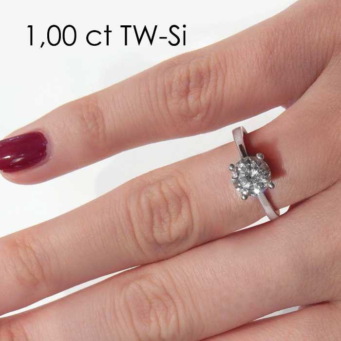 Enstens diamantring Soria med 0,70 ct i 14kt gull. TW-Si. -18010070