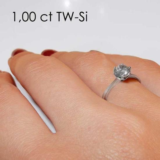 Enstens platina diamantring Aida med 1,00 ct TW-Si -18016100pt