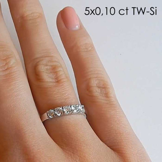 Diamantring Iselin med 5x0,10 ct TW-Si-8505010