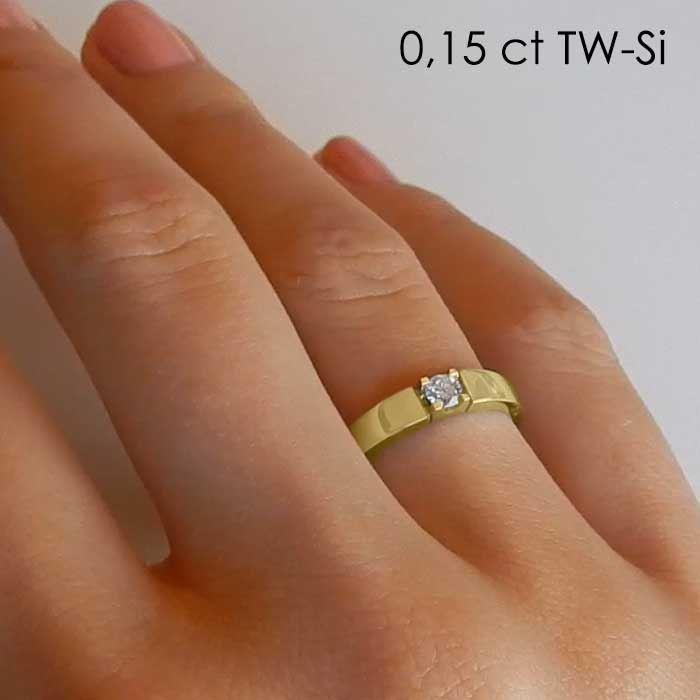 Diamantring Iselin med 0,15 ct TW-Si-85010150