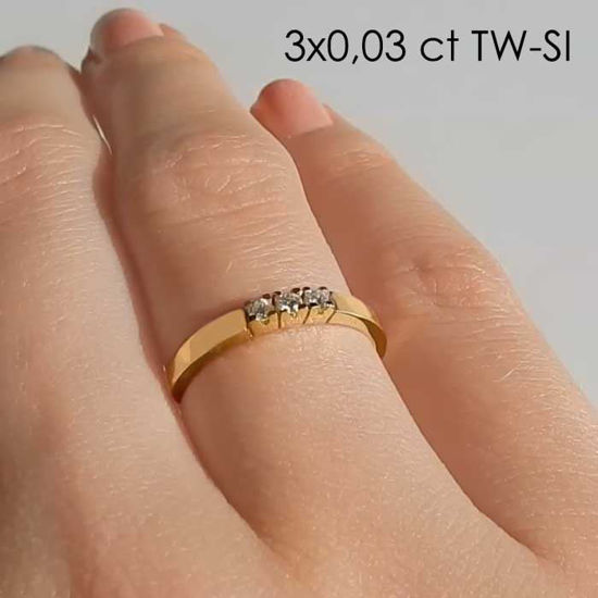 Diamantring Iselin med 3x0,03 ct TW-Si-85030300