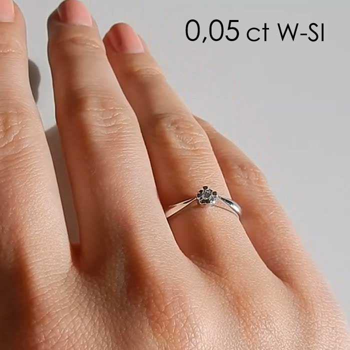 Diamantring Evita med 0,05 ct W-Si-501050