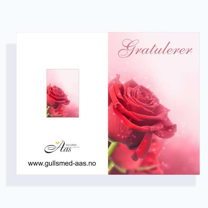 Gratulasjonskort med blomstermotiv - 181020