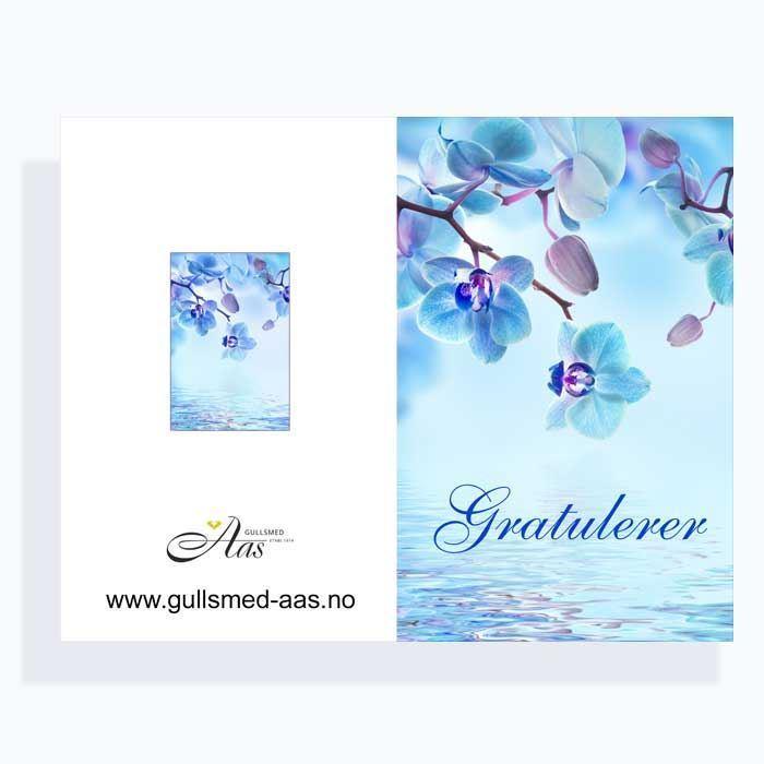 Gratulasjonskort med blomstermotiv - 181021