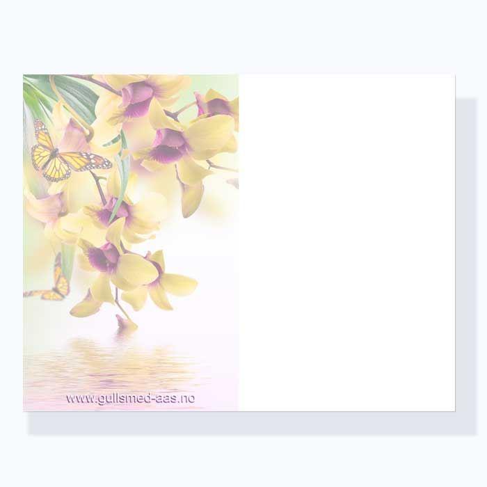 Gratulasjonskort med blomstermotiv - 181023