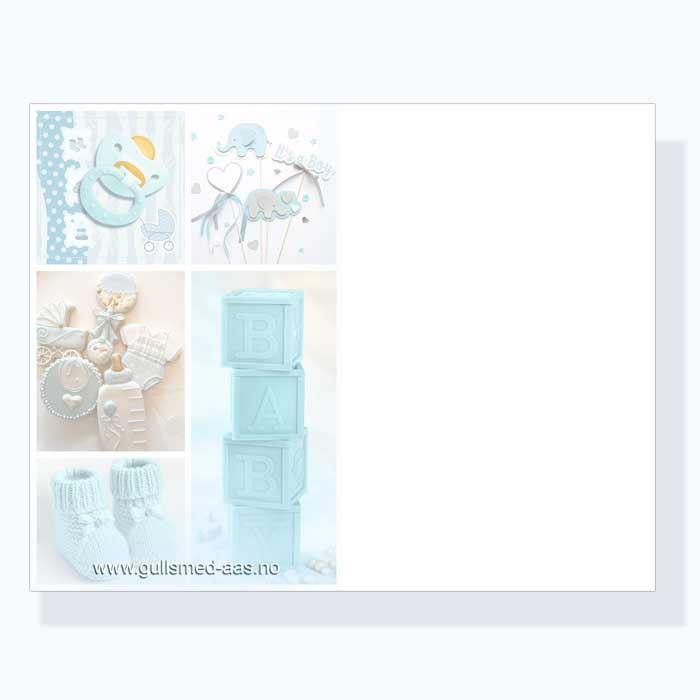 Dåpskort til gutt  - 181026