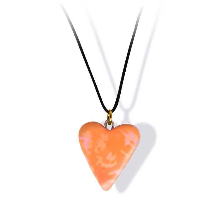 Håndlaget smykke, hjerte -2802032