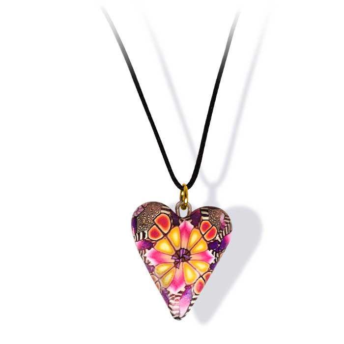 Håndlaget smykke, hjerte -2802033