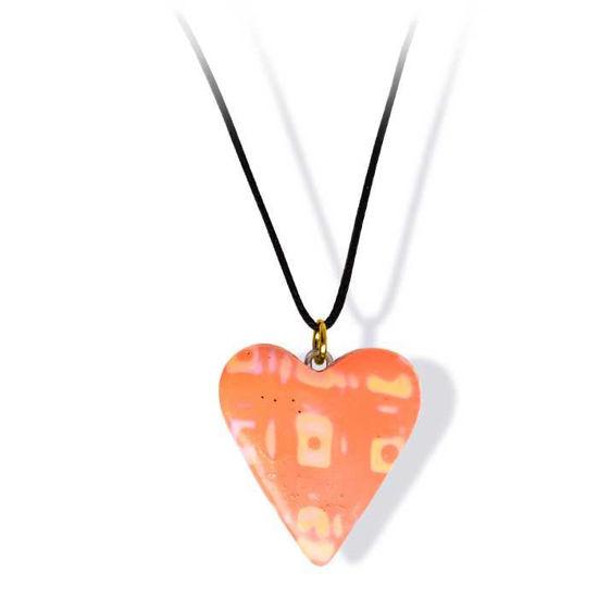 Håndlaget smykke, hjerte -2802041