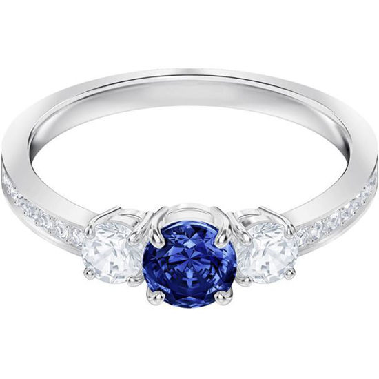 Swarovski ring. Attract Trilogy Round - 5448850