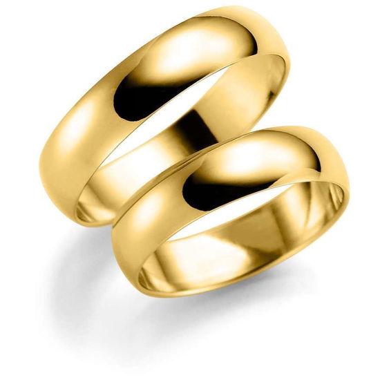 Gifteringer i gull 14 kt, 5 mm. ESPELAND-SE108GU25