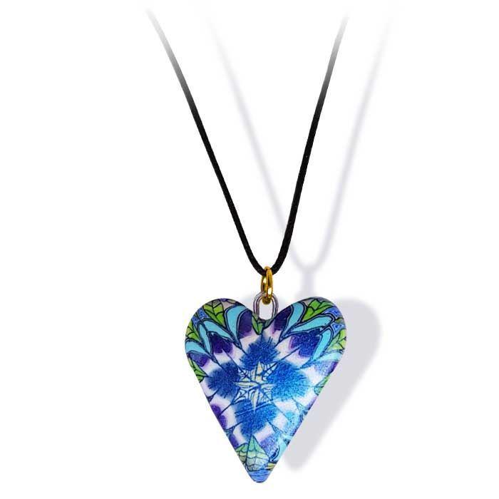 Håndlaget smykke, hjerte -2802059