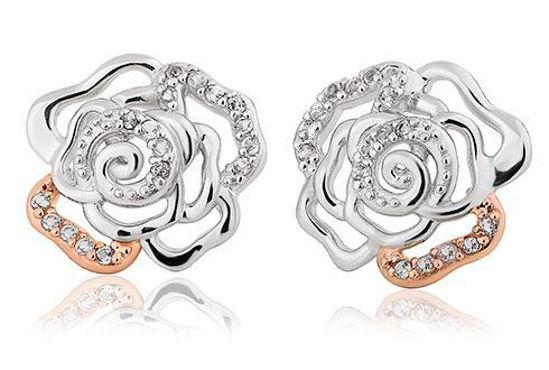 Sølv øredobber Royal Roses® Topaz Stud - 3SRORE3