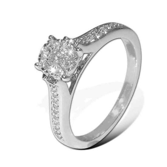 Diamantring med 0,25 ct W-Si - 201119
