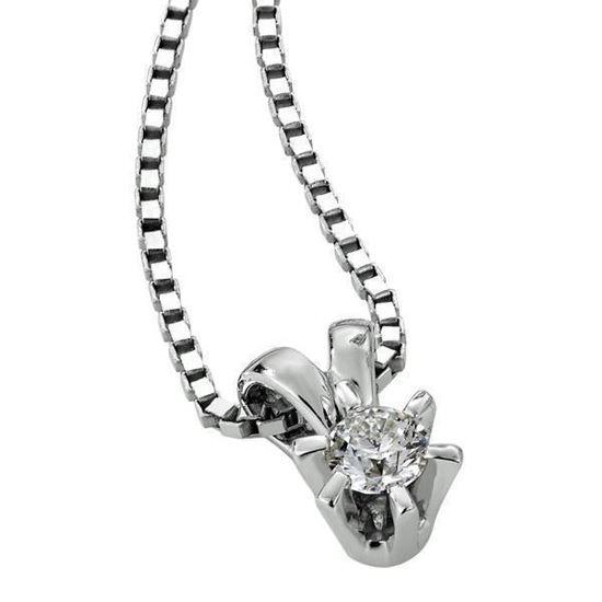 Diamantsmykke Sofia i gull med 0,13 ct W-Si-1120713