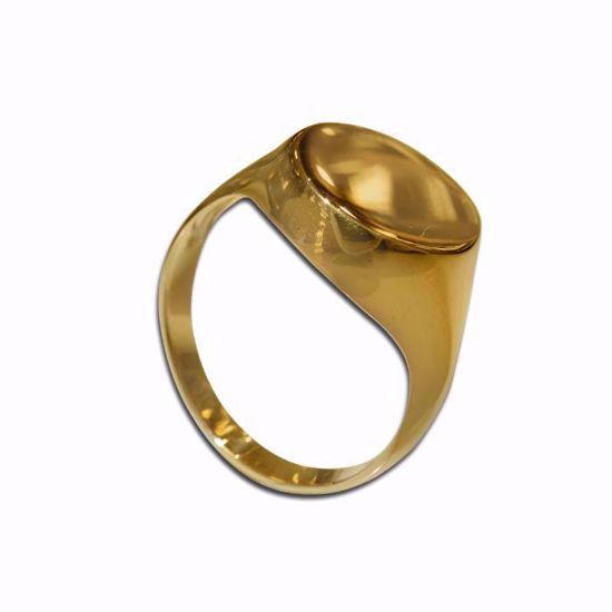Signetring til herre i gult gull - 56523