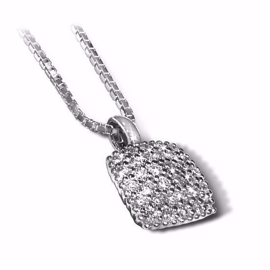 Diamantsmykke i gull med 0,32 ct W-si -BUR250165150